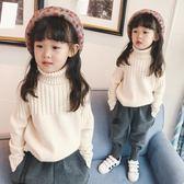 女童高領毛衣2019新款韓版白色針織衫秋冬兒童洋氣打底衫加厚上衣