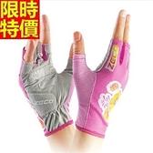 健身手套(半指)可護腕-時尚印花透氣防曬女騎行手套4色69v43[時尚巴黎]