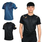 ASICS 男機能排球短袖T恤(免運 訓練 排汗 亞瑟士≡排汗專家≡