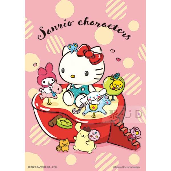 【台製拼圖】HP0108-191 Sanrio characters 奇幻樂園 - 紅蘋果木馬 108片拼圖