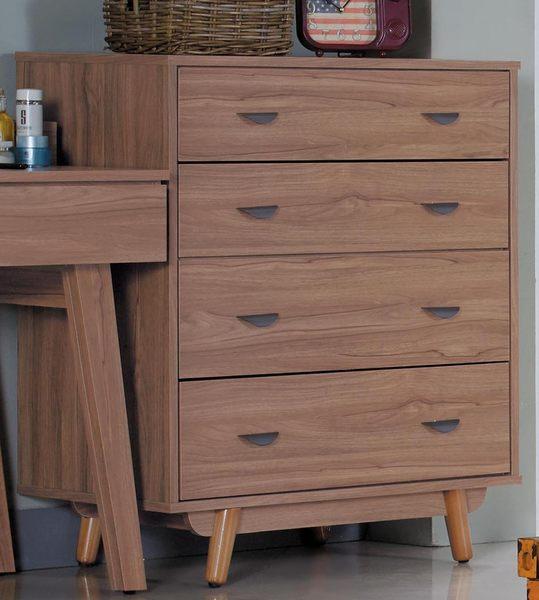 【森可家居】蘿拉柚木色四斗櫃 7JX17-4 臥房衣物收納櫃 木紋質感 MIT