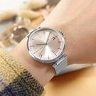 TOMMY HILFIGER / 1782206 / 極簡時尚 優雅迷人 礦石強化玻璃 米蘭編織不鏽鋼手錶 粉色 34mm
