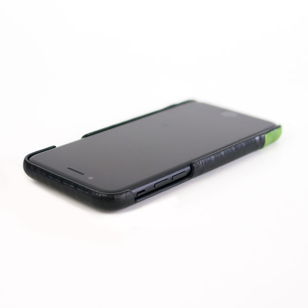 alto iPhone 8 / iPhone 7 真皮手機殼背蓋 4.7吋 Metro - 渡鴉黑/萊姆綠 【可加購客製雷雕】皮革保護套