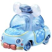 〔小禮堂〕迪士尼 唐老鴨 TOMICA小汽車水晶金龜車《藍白》珠寶車.公仔.玩具.模型 4904810-13434