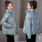 2021新款亮面免洗羽絨棉衣女短款韓版寬鬆棉服外套冬季加厚小棉襖 伊蘿