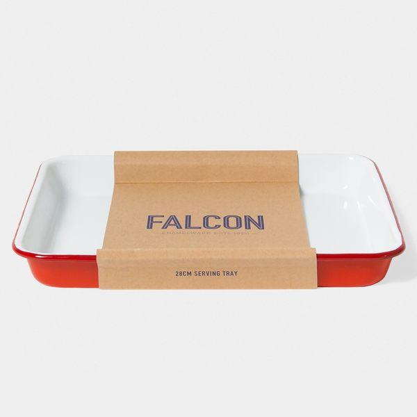 Falcon 獵鷹琺瑯 琺瑯托盤 琺瑯盤 方盤 紅白【Casa More美學生活】