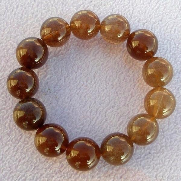 【歡喜心珠寶】【天然巴西維納斯紅鈦晶圓珠16mm手鍊】13顆.重75.9g「附保証書」招財寶石
