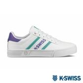 【K-SWISS】Court Lite Spellout休閒運動鞋-女-白/紫/綠(96147-129)