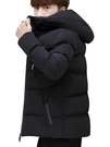 冬季男裝韓版流衣服新款羽絨棉服外套棉衣大碼加厚連帽棉襖