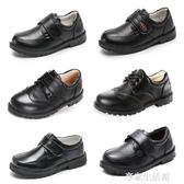 男童皮鞋黑色真皮英倫秋季新款兒童單鞋軟底學生大碼演出鞋子