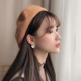 貝雷帽貝雷帽女韓版日系百搭英倫復古學生帽子女潮款蓓蕾帽【快速出貨】