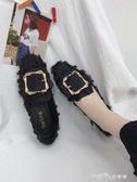 瓢鞋女春季平底女單鞋方頭豆豆鞋韓版百搭奶奶鞋女鞋 小確幸