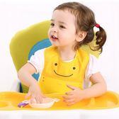 618好康鉅惠寶寶吃飯圍兜防水硅膠喂飯兜嬰兒圍嘴食飯兜