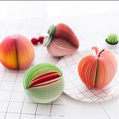 【BlueCat】蘋果水梨西瓜柳橙水蜜桃水果扇形站立式迴紋針便條紙