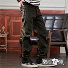 保暖加厚內刷毛伸縮中直筒休閒長褲(軍綠)● 樂活衣庫【7030】