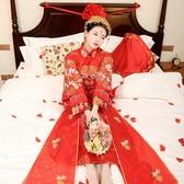 秀禾服新娘2020新款大碼孕婦敬酒服中式婚紗結婚禮服鳳冠霞帔嫁衣 (pink Q 時尚女裝)