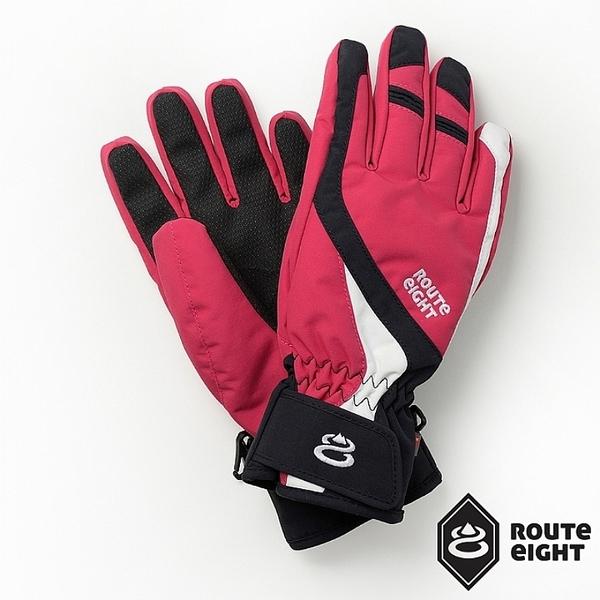 【Route 8八號公路】成人款 - COURSYN PRIMALOFT防水保暖手套 (絢麗紅)