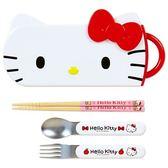 日本 SKATER 湯叉筷子餐具組(Hello Kitty)