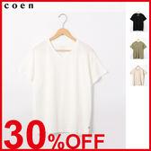 出清 女T恤 USA美國棉 休閒V領 輕盈 免運費 日本品牌【coen】