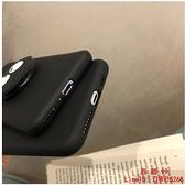 【買一送一】適用于卡通黑煤球支架iPhone11手機殼蘋果13pro Xs 6splus硅膠防摔【西語99】