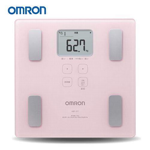 OMRON 歐姆龍體脂計 HBF-217(粉紅色)(贈體重管理BMI皮尺)-HBF-214進階版