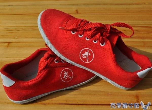 雙星春秋武術鞋太極鞋功夫鞋 牛筋底帆布鞋太極拳練功鞋透氣促銷Z 快速出貨