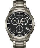 TISSOT 天梭 T-Sport 鈦金屬三眼計時手錶 T0694174406100