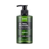 KUNDAL茶樹&澳洲堅果控油洗髮露(香草薄荷香)500ml