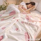 法萊絨3D毛毯夏季薄款法蘭絨珊瑚絨毯子加厚床單人午睡空調毯冬季 聖誕節全館免運