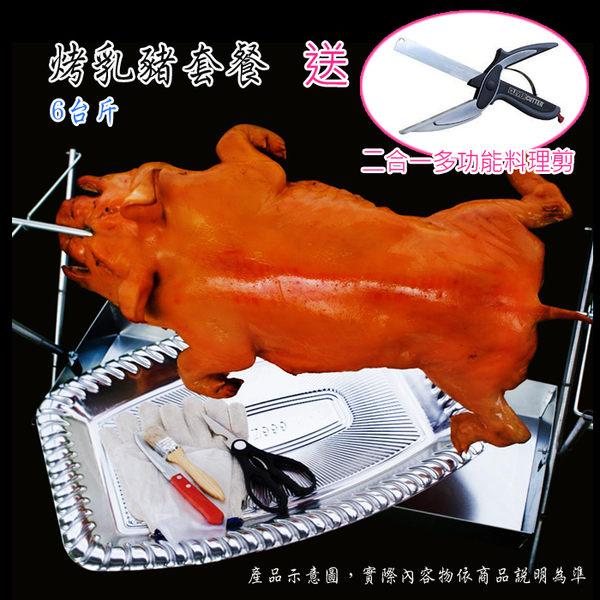 烤乳豬 6台斤 套餐 送 二合一 多功能 料理剪 新鮮 美味 中秋 節 月餅  燒烤 燒肉 烤肉 柚子 禮盒