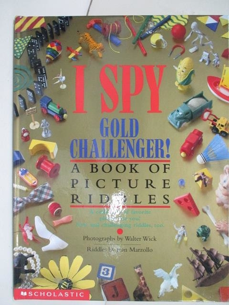 【書寶二手書T1/少年童書_D7F】I Spy Gold Challenger:A book of Picture Riddles