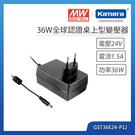 明緯 36W全球認證桌上型變壓器(GST36E24-P1J)
