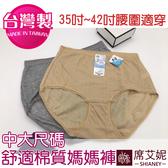 女性 MIT 加大尺碼棉質內褲 35~42吋腰圍適穿 媽媽褲 孕媽咪也適穿 台灣製造 No.520-席艾妮SHIANEY
