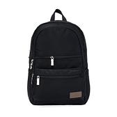 【南紡購物中心】J II 後背包-極限休閒雙拉鍊後背包-黑色-6366-1