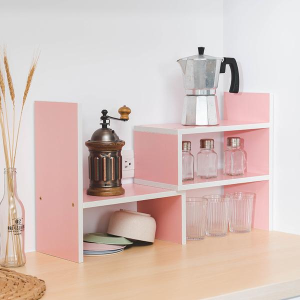 樂嫚妮 多用途收納置物書架-粉色