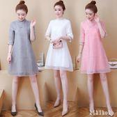 2019春夏日常新式中式旗袍少女改良版時尚年輕款中國風連身裙女 DR13018【KIKIKOKO】