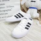 ADIDAS VS SET MULE 男款 滑板運動鞋 休閒鞋 懶人鞋 FX4849 白【iSport愛運動】