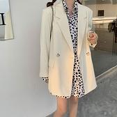西裝外套女韓版寬鬆休閒氣質素色西服【少女顏究院】