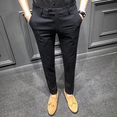 九分褲男韓版修身潮流夏季薄款男士休閒西褲百搭英倫小腳褲港風