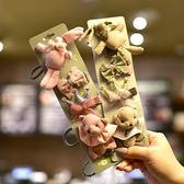 2018韓國新款簡約布藝小兔子小熊兒童發夾配飾套裝 寶寶發飾發卡  易貨居
