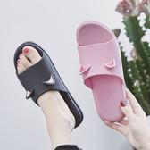卡通拖鞋女夏室內防滑洗澡浴室韓版簡約舒適塑料軟底家居家用涼拖   初見居家