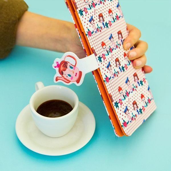 護照夾-卡通圖案長款多功能皮革護照包/證件夾/卡片夾-共4色-B290038-FuFu