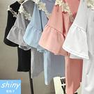 【V1709】shiny藍格子-清新可愛...