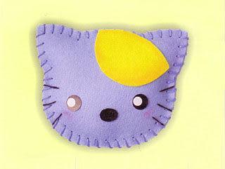超簡單穿洞香包-貓咪