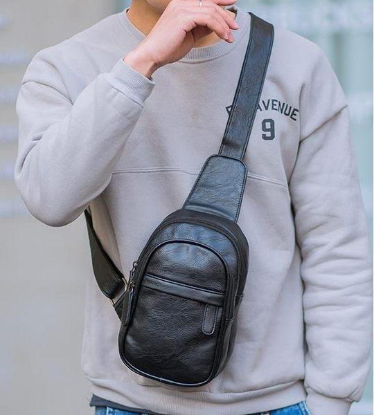 胸前包 時尚簡約胸包男新款潮流青年韓版百搭迷你小號單肩手機斜背包   新年下殺