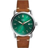 FOSSIL Commuter 新時代手錶-綠x咖啡/42mm FS5540