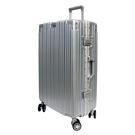 【YC Eason】古典26吋鋁框避震行李箱(銀)