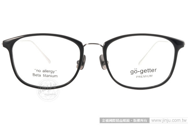 Go-Getter 光學眼鏡 GO3017 C01 (黑-銀) 韓版時尚別緻百搭 # 金橘眼鏡