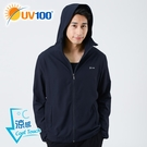 UV100 防曬 抗UV-涼感輕量連帽男外套-帽沿款
