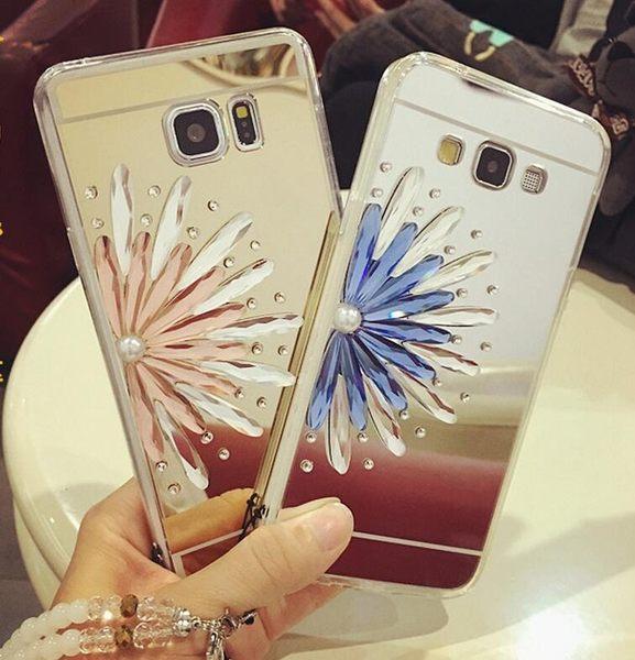 【SZ】S6  S8 plus電鍍鏡面TPU+奢華半花鑲鑽 S6 edge手機殼  S6 edge plus手機殼 s7edge手機殼 S7手機殼S8